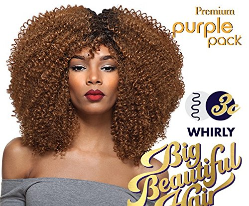 Price comparison product image Black Colour 1B Weave by Outre. Premium Purple Pack range, 1 Pack Solution Big Beautiful Hair 3C-Whirly