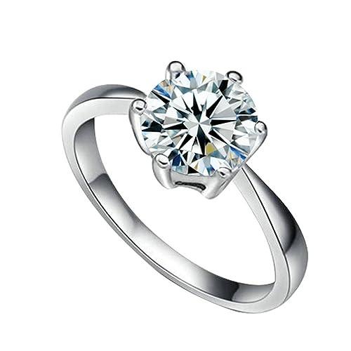 Yoursfs bañados en oro 18 K Seis Clavijas de imitación de diamante anillos de boda?