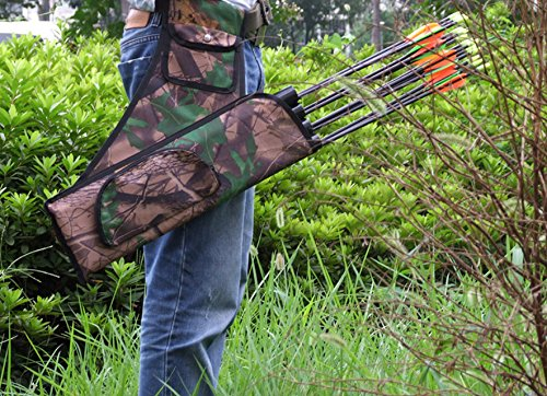Andesan Portable Outdoor Sport Archery Belt quiver Arrow Bag with 4 Tubes(Camouflage) by Andesan (Image #3)