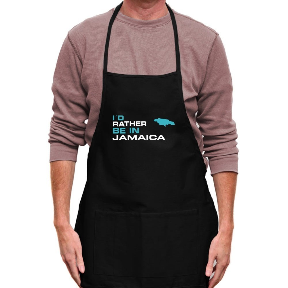 Teeburon I'D RATHER BE IN Jamaica Apron TEE00311763F6A5545700000