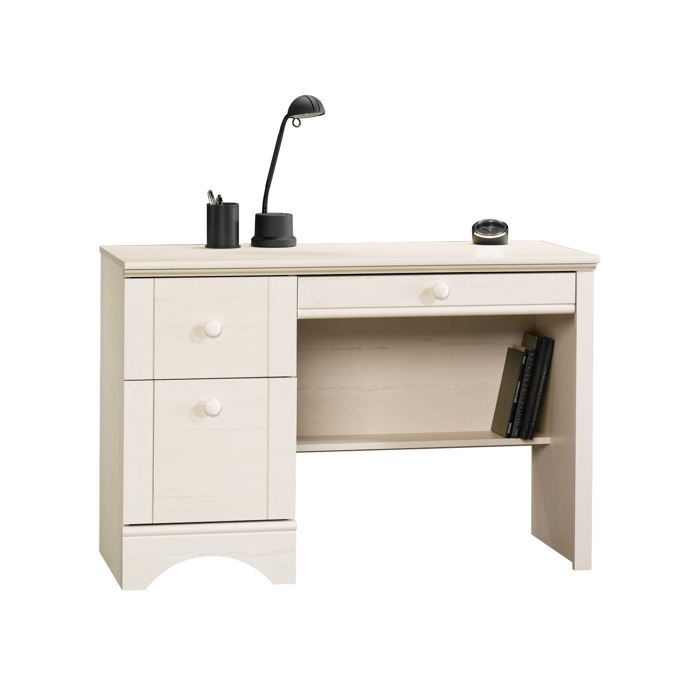 Sauder Harbor View Computer Desk, Antiqued White Finish 401685