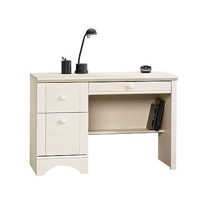 Sauder Harbor View Computer Desk, Antiqued White Finish - Amazon.com: Sauder Harbor View Computer Desk, Antiqued White Finish