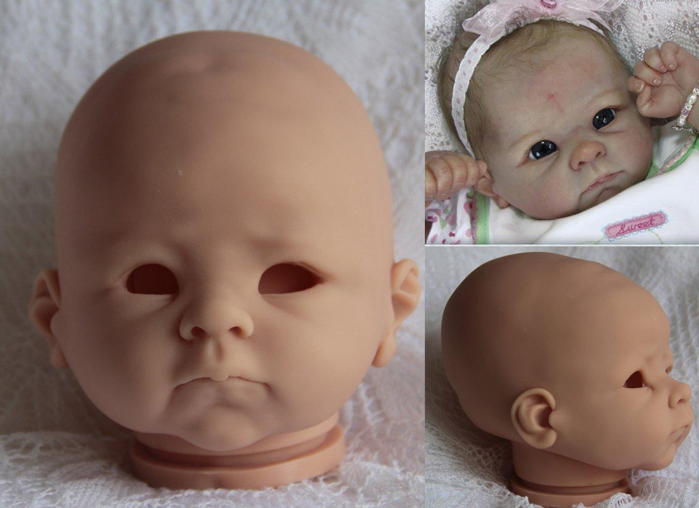 22/'/' Doll Unpainted Vinyl Silicone Kit Reborn Baby Doll Limbs Head /& 3//4 Arm Leg