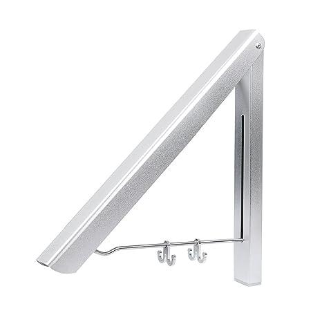 Cusfull Perchero de Pared Percha Plegable en Aluminio para ...
