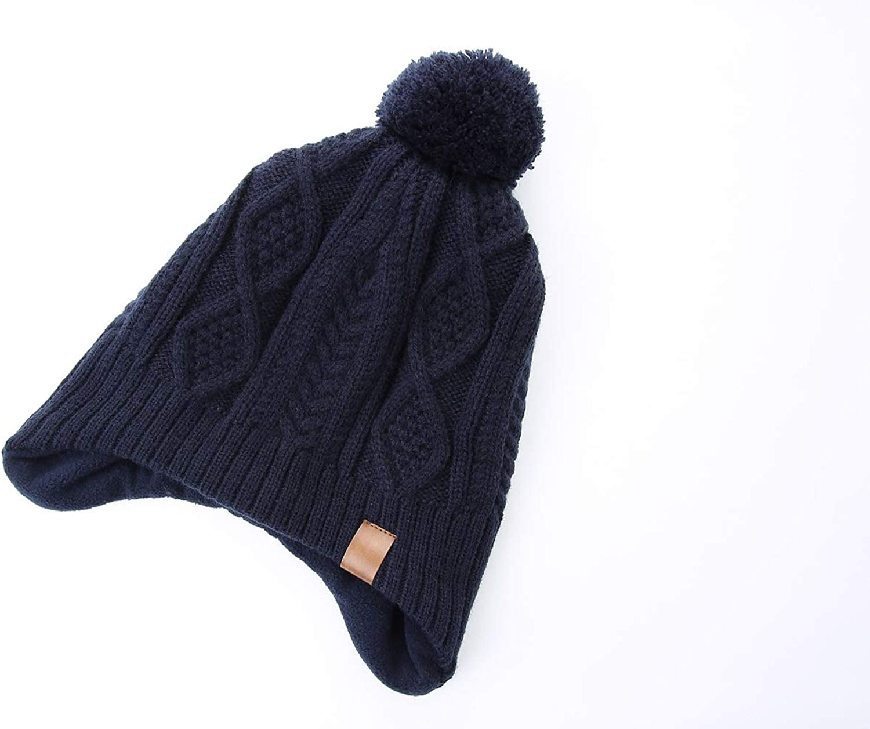 Moon Kitty Baby Boys Girls Knit Hats Winter Fleece Skiing Winter Caps with Warm Ear Flap