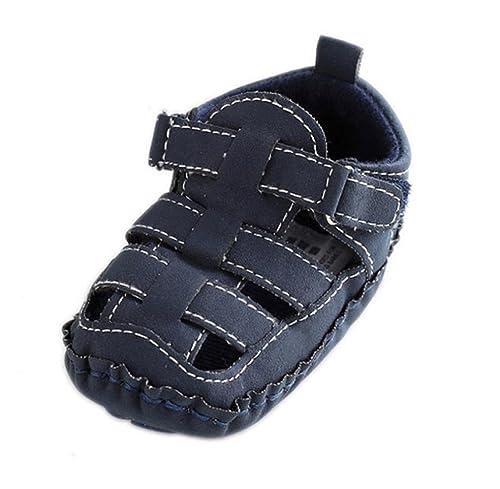 Zapatos de bebé,Tongshi Niño Niños Cuna Salida único Bebé Antideslizante Suave Zapatillas Sandalias Zapatos