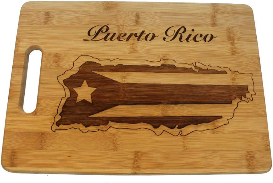 Puerto Rico Cutting Board for Puerto Rican Kitchen Decor or Puerto Rico Souvenirs
