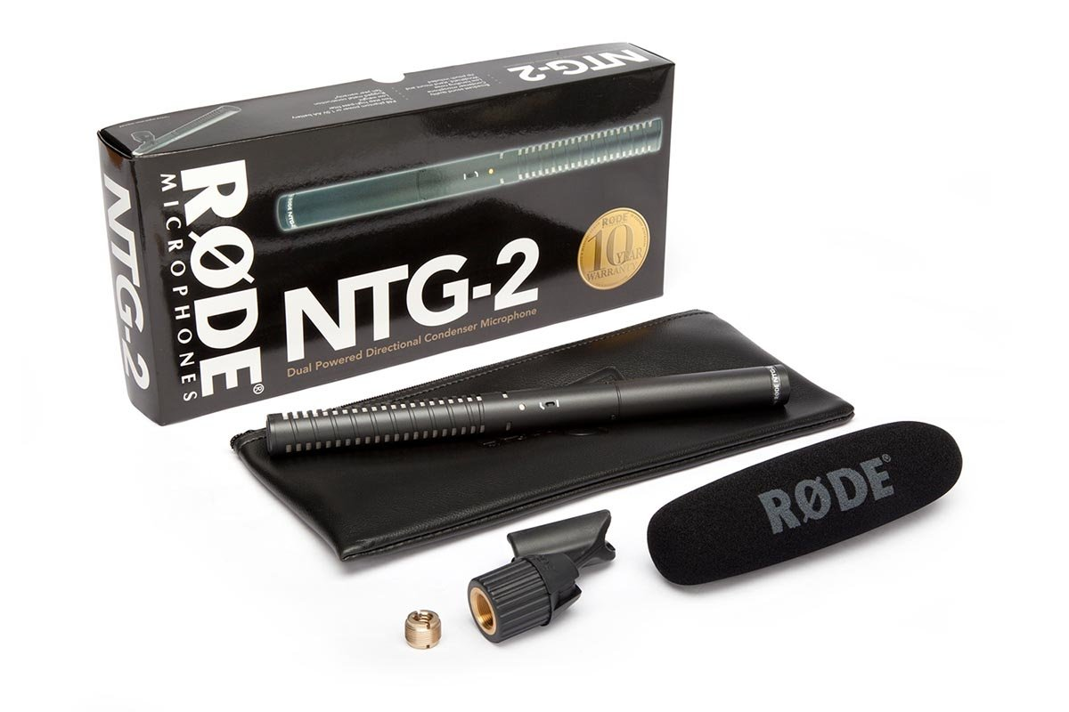 Rode NTG-2 Dual Powered Directional Shotgun Microphone BUNDLE #NTG2 E