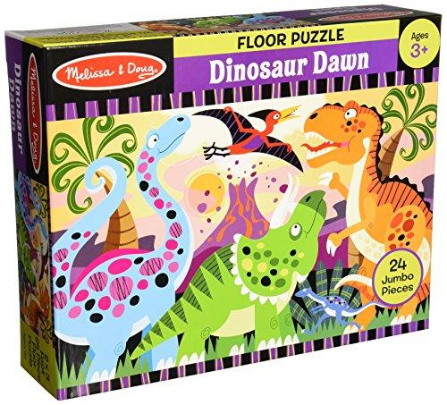 Melissa & Doug Dinosaur Dawn Jumbo Jigsaw Floor Puzzle (24 pcs, 2 x 3 feet) (Dinosaur Dawn Floor Puzzle)