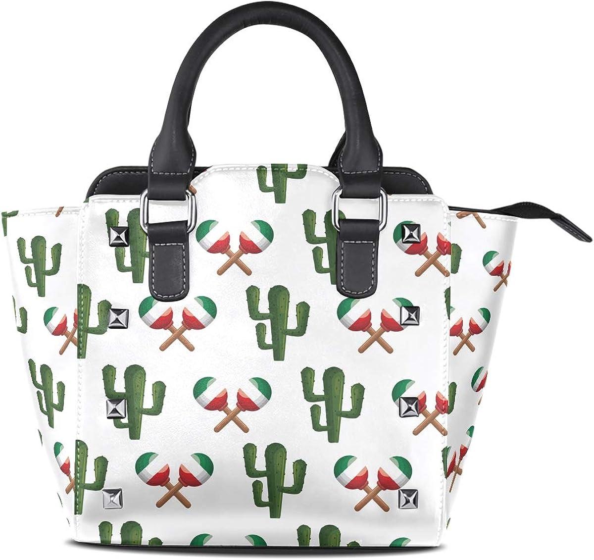 Cactus Lollipop Colorful Pattern Womens fashion Handbags Shoulder Bags Handle Satchel