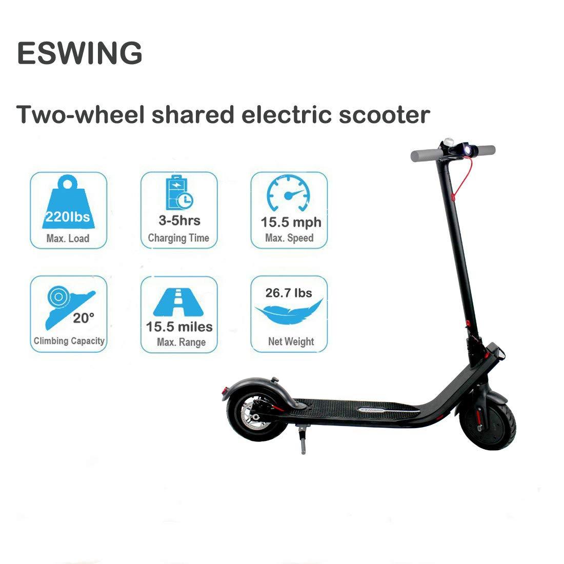Amazon.com: ESWING Patinete eléctrico portátil para adultos ...