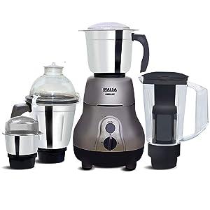 Inalsa Amaze Mixer Grinder Mixer Grinder, 780W, 3 Stainless Steel Jars & 1 Blender Jar with Fruit Filter (Grey)