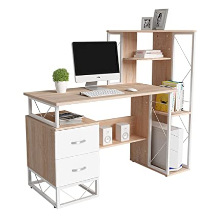 Amazon.com: Tables ZR- Simple Desk Bookshelf Combination Bedroom ...