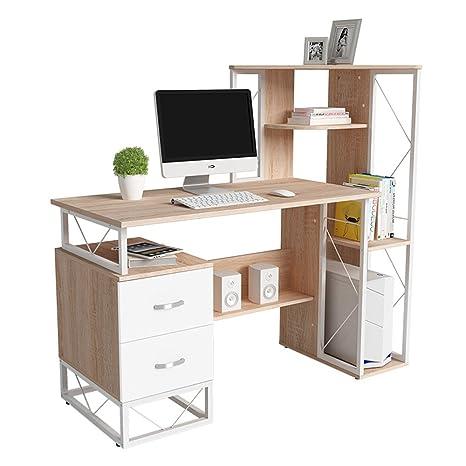 Amazon.com: Tables ZR- Simple Desk Bookshelf Combination ...