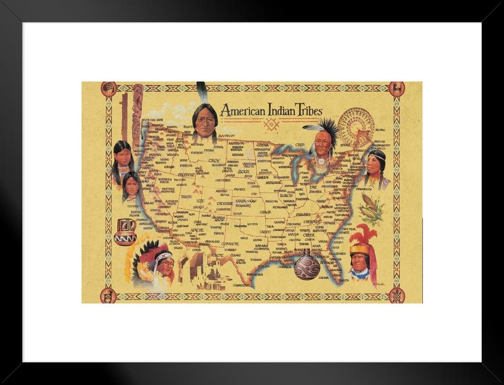 Amazon.com: American Indian Tribes at Time of Columbus Arrival Map ...