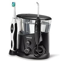 Waterpik WP-952EU - Irrigador y cepillo de dientes electrico sonico, color negro