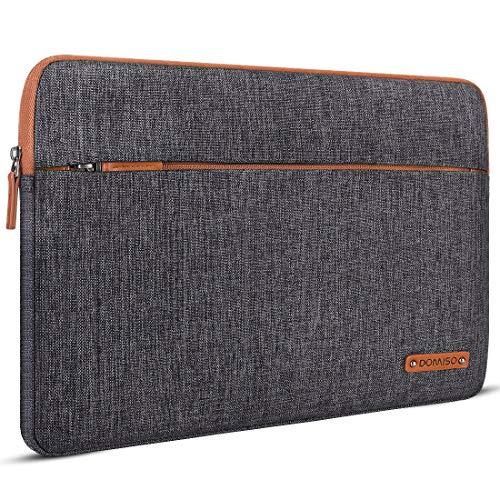 "DOMISO 14 Inch Laptop Sleeve Case Bag Pouch for 14"" Lenovo Chromebook S330 / ThinkPad A475 A485 E485 T480s / HP ProBook 640 645 G4 / Dell Inspiron 5480 5481 5482 5490 Chromebook 14, Dark Grey"