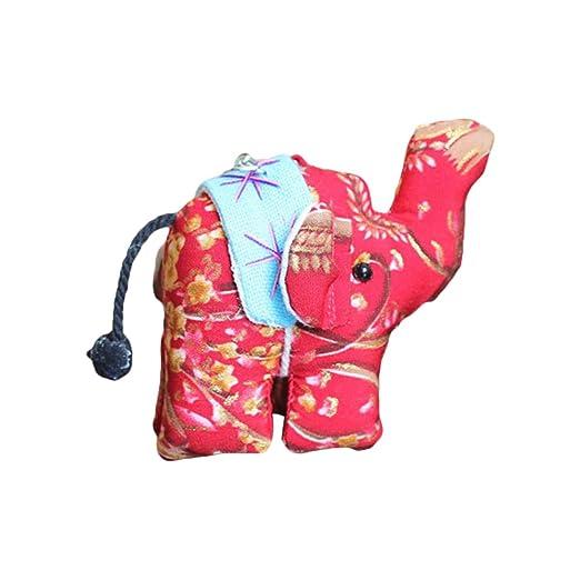 Lioobo - Llavero de tela elefante con colgante de bolso de ...