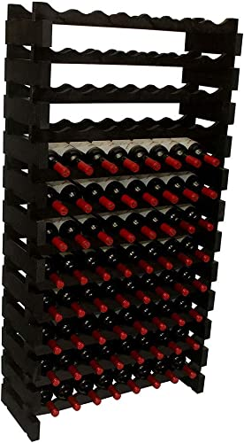 DisplayGifts Modular Stackable Storage Wine Rack Freestanding Wooden Wine Holder
