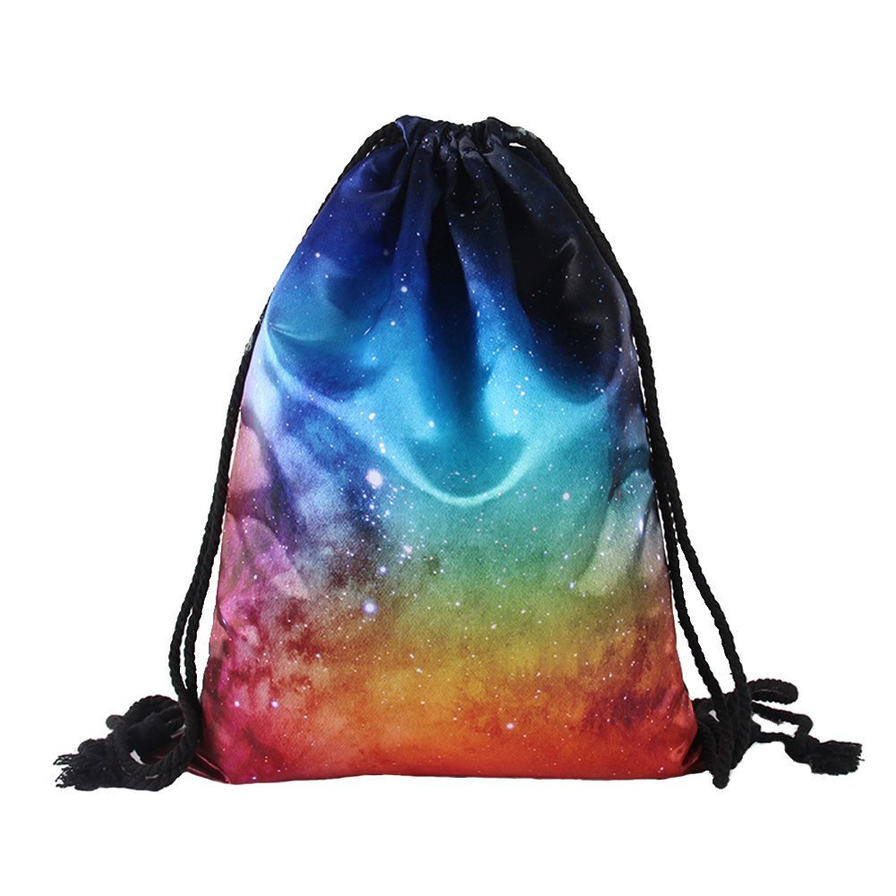 True Holiday Waterproof Fabric Drawstring Bag Backpack for Girls to Gym Sports Trip Swimming School