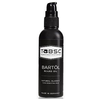 TBBSC Aceite para barba 100ml con aceite de Argán, aceite de semillas de uva, aceite de almendra y vitaminas E y K