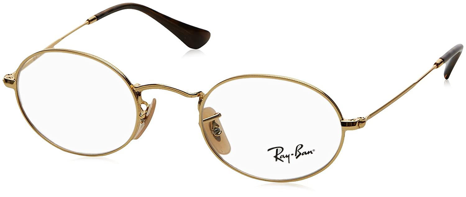 e38e407aab Amazon.com  Ray-Ban Unisex RX3547V Oval Eyeglasses Arista 48mm  Clothing