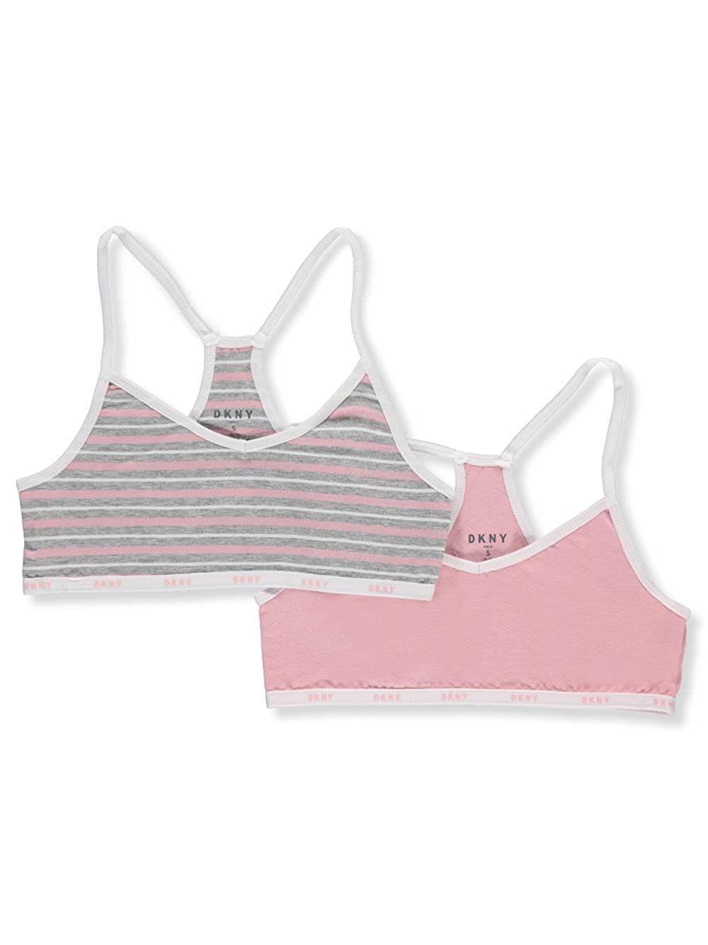 DKNY Girls' 2-Pack Racer Back Bralettes