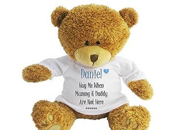 54720d46475 Personalised Teddy Bear Hug Me. Suitable for Birthday