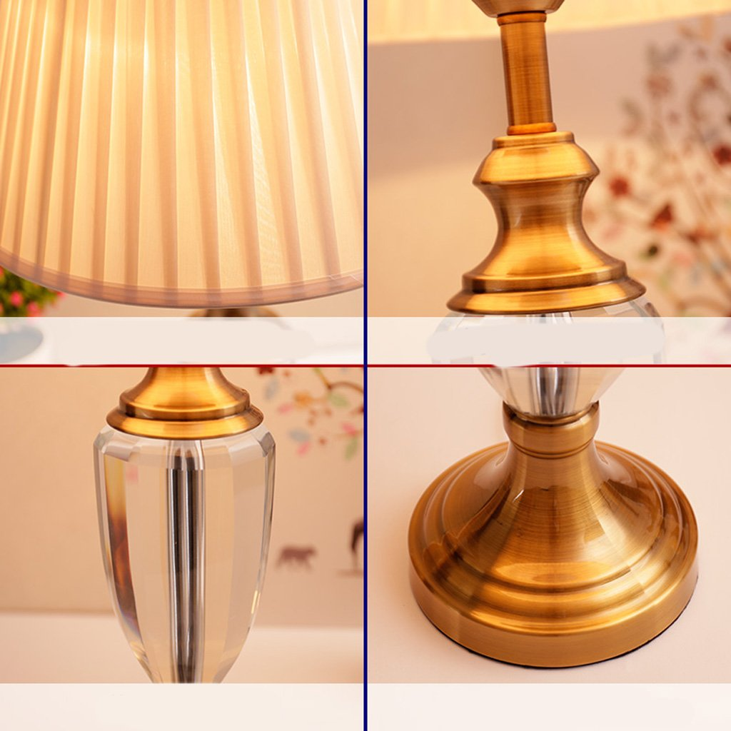 MLMH Kristall Bronze Tischlampe Wohnzimmer Studie Studie Studie Schlafzimmer Nachttischlampe Tischlampe (Farbe   A) B07JVGYH14   Bequeme Berührung  b39620