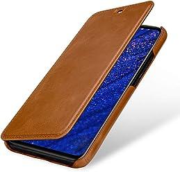 StilGut Custodia per Huawei Mate 20 Lite a Libro in Vera Pelle, Cognac