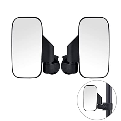 2020 Upgraded UTV Side View Mirrors, Adjustable Wide Rear Clear View with Shatter-Proof Tempered Glass, Moveland UTV Off Road Accessories for Polaris RZR, Can-Am, Kawasaki, kubota, Yamaha, Maverick-2: Automotive