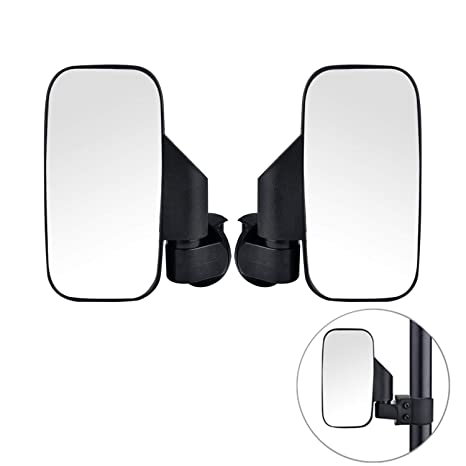 2019 Upgraded UTV Side View Mirrors, Adjustable Wide Rear Clear View with  Shatter-Proof Tempered Glass, Moveland UTV Off Road Accessories for Polaris