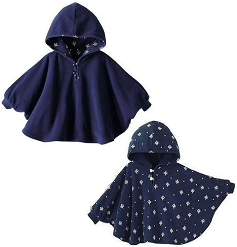 New Baby Toddler Kids Boy Girl unisex Double-side Use Hoodie Cloak Cape