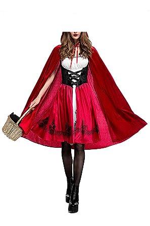 xiemushop Disfraz de Criada para Mujer Traje Medieval Cosplay Caperucita  Halloween  Amazon.es  Ropa y accesorios d2669ababff