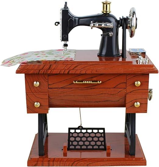 Vosarea - Caja de música Sartorius con forma de máquina de coser ...