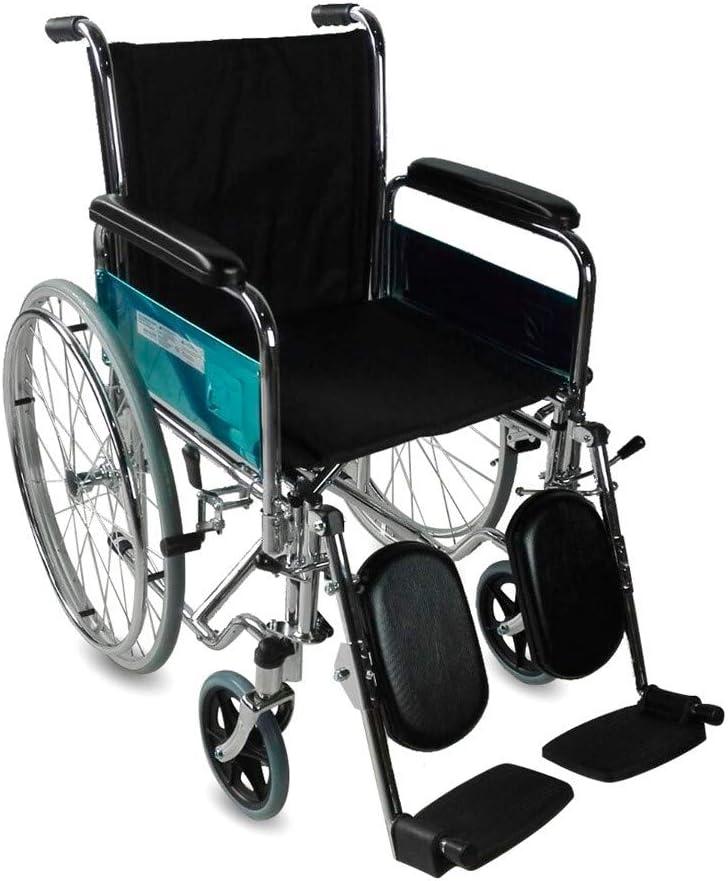 Mobiclinic, modelo Partenón, Silla de ruedas para minusválidos, premium, manual, plegable, ortopédica, de aluminio, freno en manetas, reposapiés, reposabrazos, color Negro, asiento, ultraligera