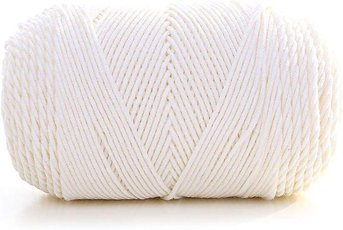 bigdispawl - Ovillo de Lana Suave y Gruesa, 100 g, para Tejer Cualquier Punto y Ganchillo, Hilo de algodón Grueso, 1: Amazon.es: Hogar