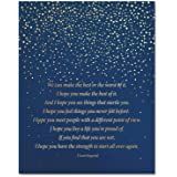 F. Scott Fitzgerald Inspiring Motivational Quote Gold Foil Wall Art Print - Literary Quote - Great Gift for Office Home…