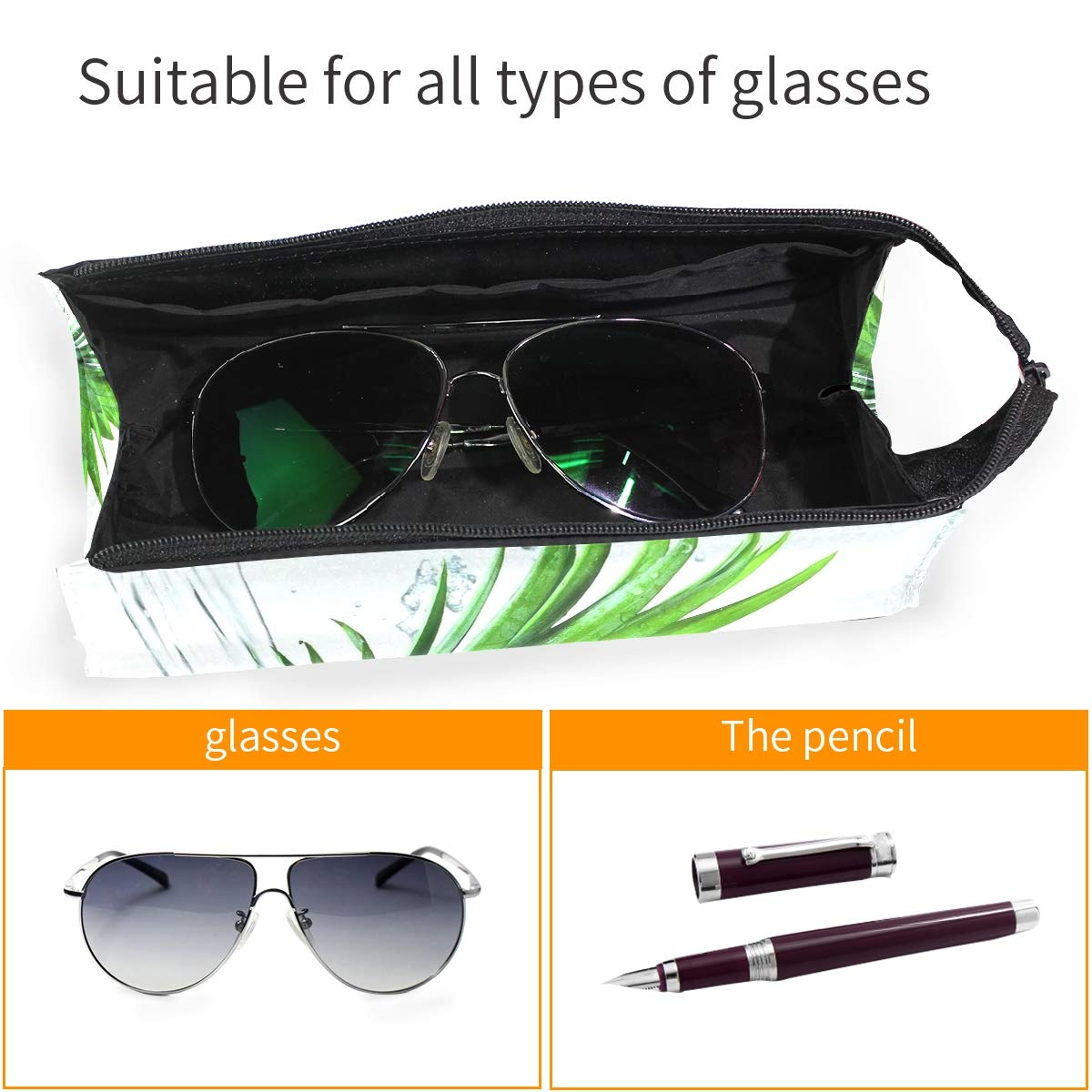Glasses Case Fun And Festive Christmas Cookies Travel Soft Sunglasses Pencil Bag Protective Holder