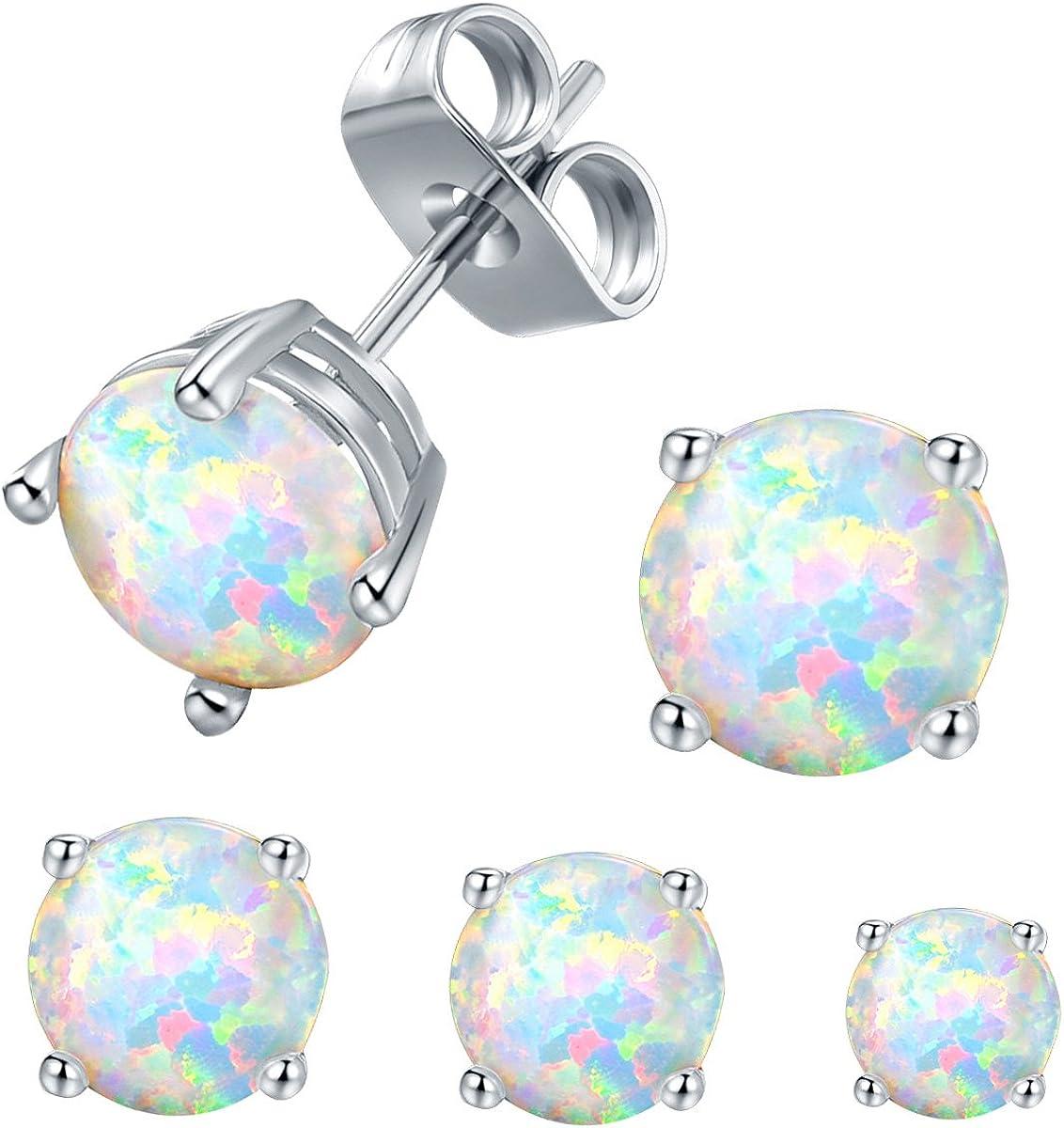 VOLUKA Opal Stud Earrings...