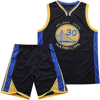 Es un Regalo para los fanáticos de # 30 Stephen Curry Golden State Warriors Traje de Baloncesto sin Mangas Top de Verano Chaleco Fresco Camisa Niños Estudiantes Adolescentes Adecuado para Adultos: Amazon.es: