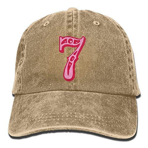 Number 7 Caps Unsex 100% Cotton Low Profile Adjustable Plain Flat Baseball Cap Sun Outdoor Sport Cowboy Snapback Quick Dry Hat](Number One Grandpa Hat)