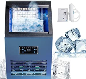 Pevor Built-in Stainless Steel AC110V Auto Commercial Ice Maker,Under Counter/Freestanding/Portable Automatic Ice Machine for Restaurant Bar Cafe USA Warehouse(5-7days Delivery)