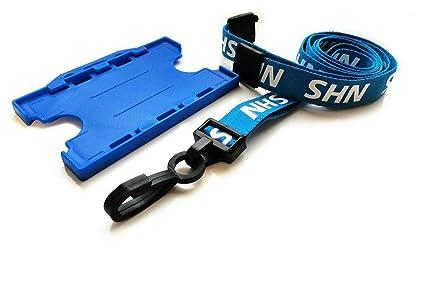 Cordón NHS azul con soporte de tarjeta de identificación ...