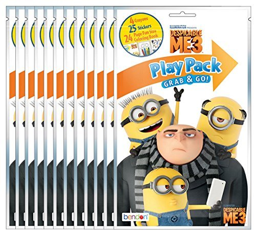 Bundle of 12 Illuminations Despicable Me 3 Grab and Go Play Packs ()