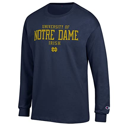 Amazon Com Elite Fan Shop University Of Notre Dame Long Sleeve