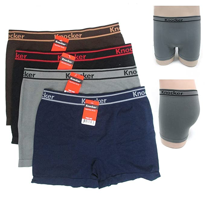 d16467f498e0 Image Unavailable. Image not available for. Color: 12 Mens Seamless  Athletic Compression Boxer Briefs ...