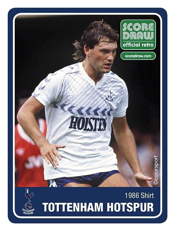 f96734c63 Amazon.com   Tottenham Hotspur FC Official Soccer Gift Mens 1986 Retro Home  Kit Shirt   Clothing