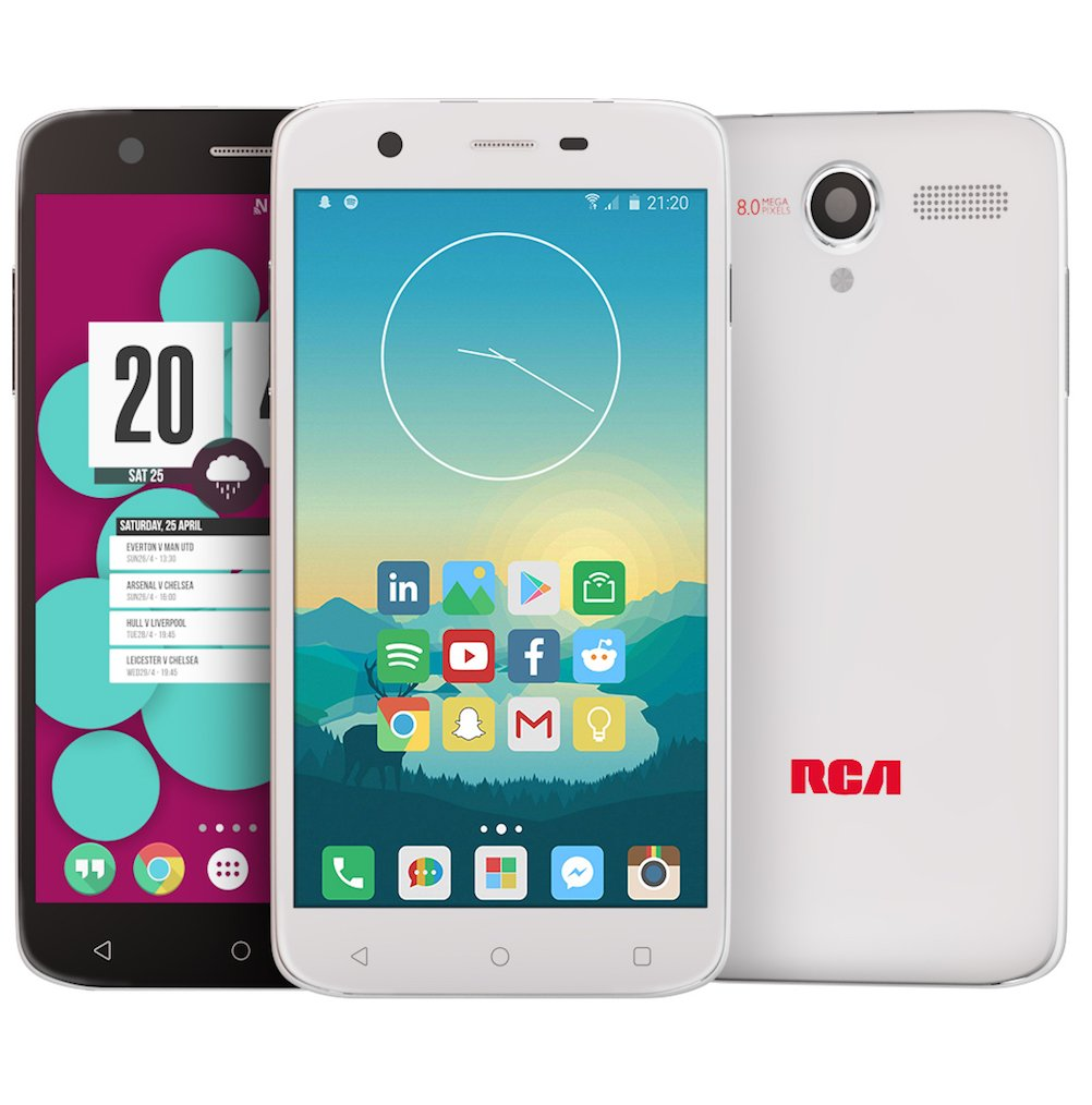 RCA Q1 4G LTE, 16GB, Unlocked Dual SIM Cell Phone, Android 6.0 - White by RCA (Image #5)