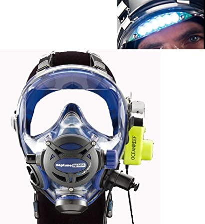 37dcac5b151 Image Unavailable. Image not available for. Color  Ocean Reef Neptune Space  G.divers Full GMS Radio Visor Light Diving Mask ...
